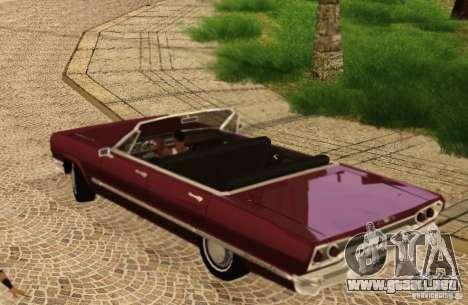 Savanna Detroit 1965 para GTA San Andreas vista hacia atrás