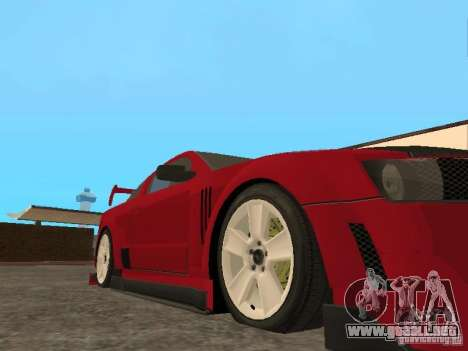 Ford Mustang para GTA San Andreas vista hacia atrás