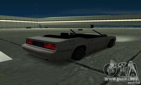 Buffalo Cabrio para GTA San Andreas vista posterior izquierda
