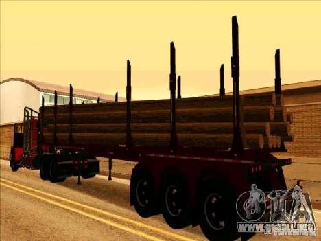 Trailer, Western Star 4900 para la visión correcta GTA San Andreas