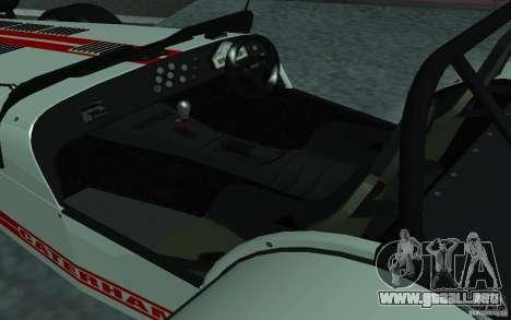 Caterham R500 para la visión correcta GTA San Andreas