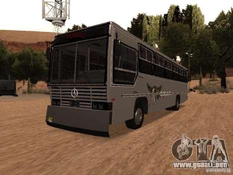 Mercedes Benz SWAT Bus para GTA San Andreas