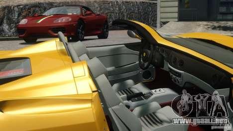 Ferrari 360 Spider 2000 para GTA 4 Vista posterior izquierda