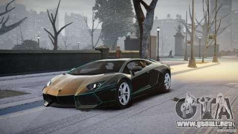 Lamborghini Aventador LP700-4 para GTA 4 left