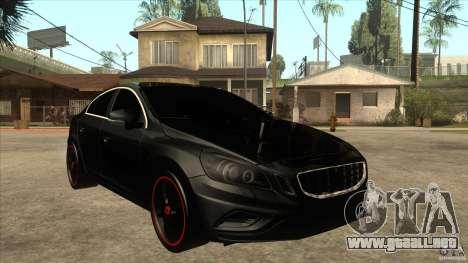 Volvo S60 para GTA San Andreas vista hacia atrás