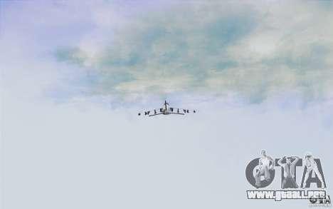 Sky Box V2.0 para GTA San Andreas sucesivamente de pantalla