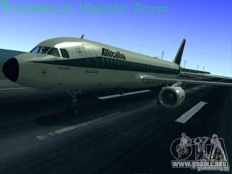 Airbus A320-214 Alitalia v.1.0 para las ruedas de GTA San Andreas