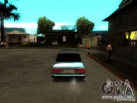 VAZ 2107 V2 para la visión correcta GTA San Andreas