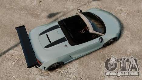 Audi R8 Spider Body Kit para GTA 4 visión correcta
