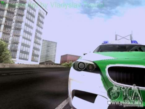 BMW M5 Touring Polizei para visión interna GTA San Andreas
