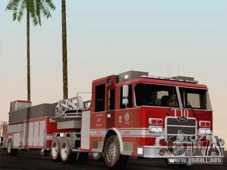 Pierce Arrow XT LAFD Tiller Ladder Truck 10 para vista inferior GTA San Andreas