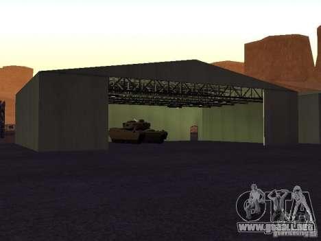 La ametralladora del tanque para GTA San Andreas