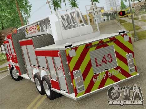 Pierce Arrow LAFD Ladder 43 para la visión correcta GTA San Andreas