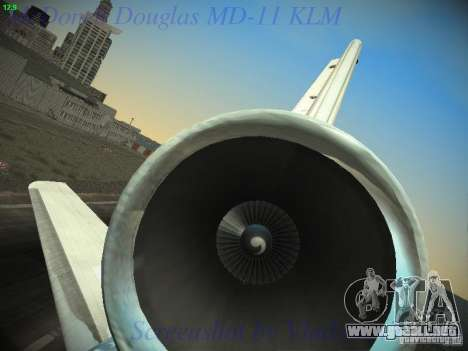 McDonnell Douglas MD-11 KLM Royal Dutch Airlines para vista inferior GTA San Andreas
