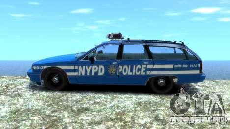 Chevrolet Caprice Police Station Wagon 1992 para GTA 4 Vista posterior izquierda