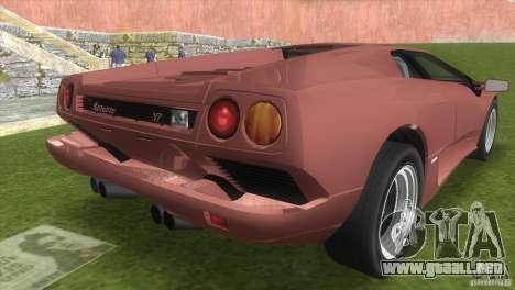 Lamborghini Diablo VTTT Black Revel para GTA Vice City left