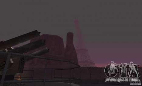 La Torre Eiffel de Call of Duty Modern Warfare 3 para GTA San Andreas tercera pantalla