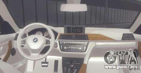 BMW 335i Coupe 2013 para la visión correcta GTA San Andreas