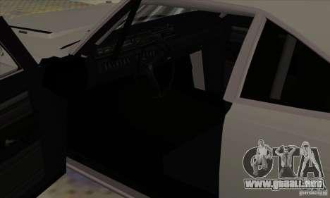Plymouth Roadrunner para GTA San Andreas vista hacia atrás