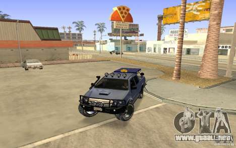 Toyota Hilux Rally Version para GTA San Andreas left