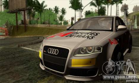 Audi RS4 para la vista superior GTA San Andreas