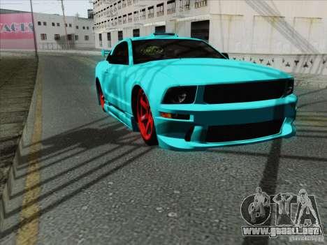 Ford Mustang GT Lowlife para visión interna GTA San Andreas