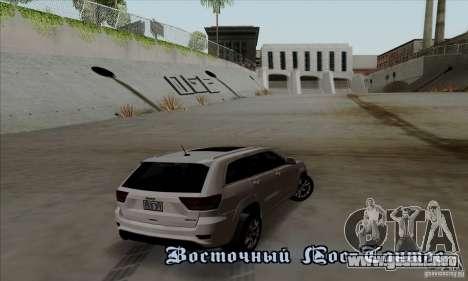 Jeep Grand Cherokee SRT-8 2013 para la visión correcta GTA San Andreas