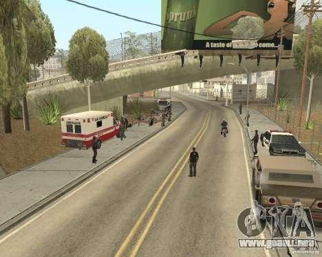 Escena del crimen (escena del crimen) para GTA San Andreas segunda pantalla