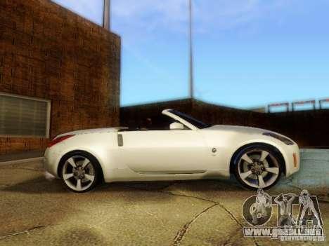 Nissan 350Z Cabrio para GTA San Andreas vista posterior izquierda
