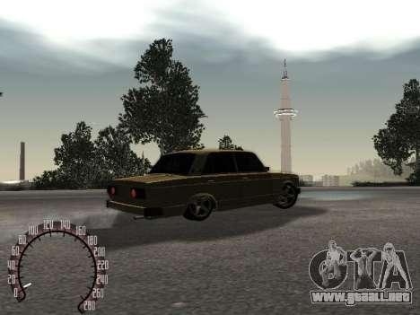 VAZ 2105 oro para GTA San Andreas vista posterior izquierda