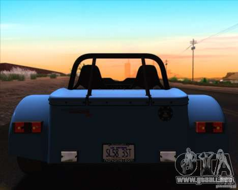 Caterham Superlight R500 para GTA San Andreas interior
