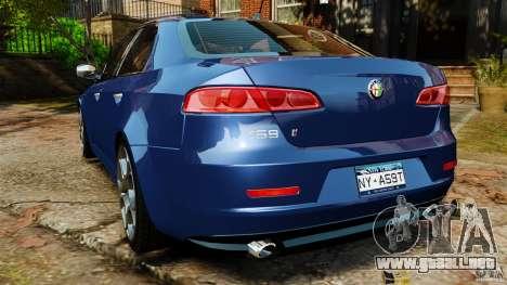 Alfa Romeo 159 TI V6 JTS para GTA 4 Vista posterior izquierda