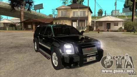 GMC Yukon Unmarked FBI para GTA San Andreas vista hacia atrás