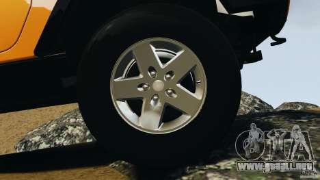Jeep Wrangler Rubicon 2012 para GTA 4 vista superior