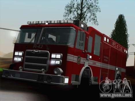 Pierce Contender LAFD Rescue 42 para el motor de GTA San Andreas