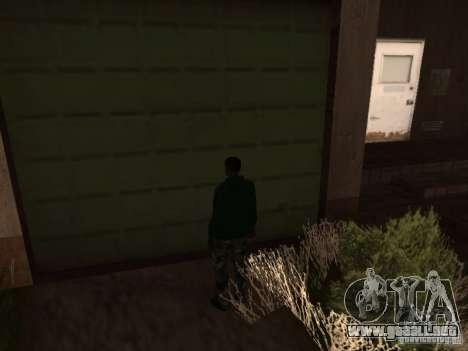 Uso del almacén tu banda para GTA San Andreas tercera pantalla