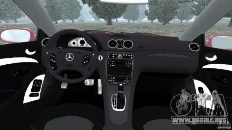 Mercedes-Benz CLK 63 AMG para GTA 4 vista hacia atrás