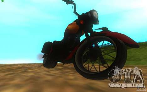 Motorcycle from Mercenaries 2 para la visión correcta GTA San Andreas