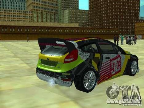 Ford Fiesta H.F.H.V. Ken Block Gymkhana 5 para GTA San Andreas left