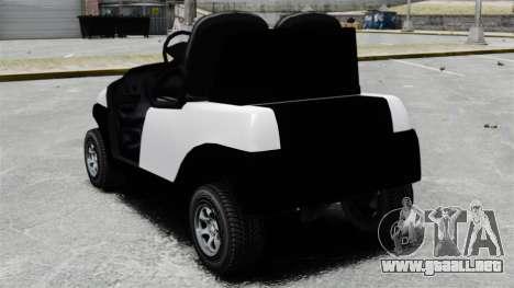 Caddy Unity para GTA 4 Vista posterior izquierda