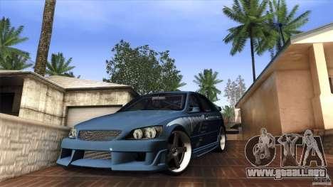 Lexus IS 300 Veilside para GTA San Andreas left