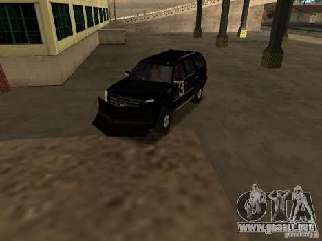 Cadillac Escalade Tallahassee para visión interna GTA San Andreas