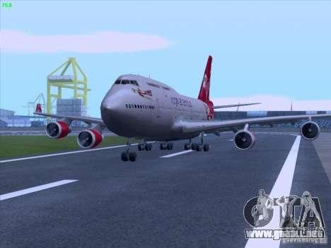 Boeing 747-4Q8 Lady Penelope para la visión correcta GTA San Andreas