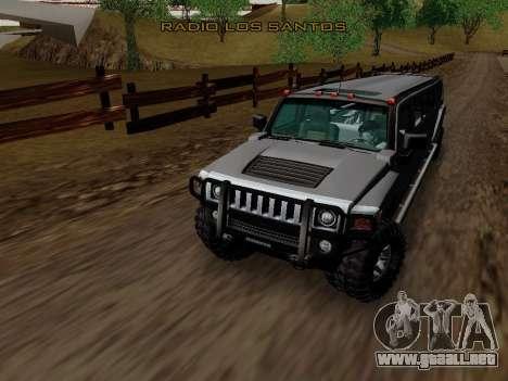 Hummer H3 Limousine para visión interna GTA San Andreas