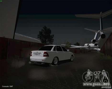 Lada 2170 para vista inferior GTA San Andreas