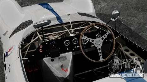 Maserati Tipo 60 Birdcage para GTA 4 vista hacia atrás