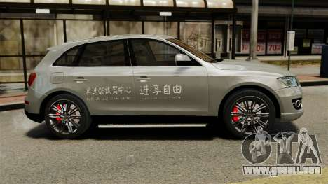 Audi Q5 Chinese Version para GTA 4 left