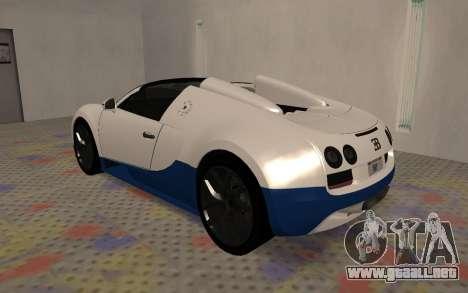 Bugatti Veyron Grand Sport Vitesse para la visión correcta GTA San Andreas