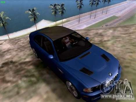 BMW M3 Tunable para GTA San Andreas vista posterior izquierda