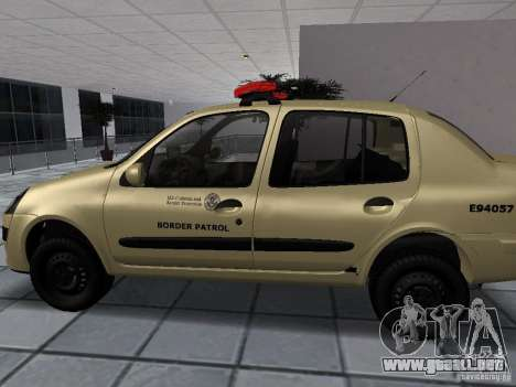 Renault Clio Symbol Police para GTA San Andreas left